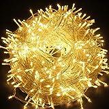 ColuzPro Indoor Outdoor String Lights, 30V Plug in 108 ft 300 LED...