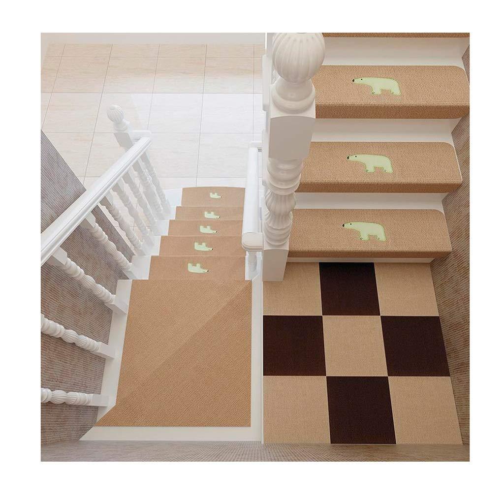 Alfombra para Escalera Diseño Luminoso Conjunto de 10 Autoadhesivo Almohadillas para escaleras Alfombra/Alfombra para Escalera Antideslizante Antideslizante Protector de Piso Lavable 70x22cm: Amazon.es: Hogar