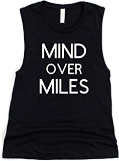 Mind Over Miles Shirt, Running Muscle Tank Top For Women, Sizes XS-L, Gift For A Runner