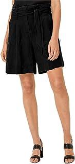 PATRORNA Antimicrobial Cotton Viscose Womens Trouser Cut Bermuda Shorts (Black, Size XS-10XL, F08A055)