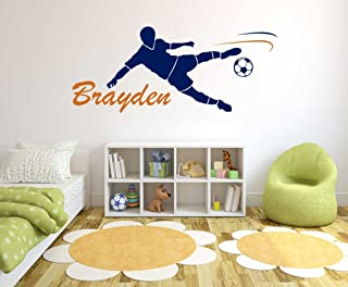Custom Name Soccer Player - Soccer - Wall Decal for Home...