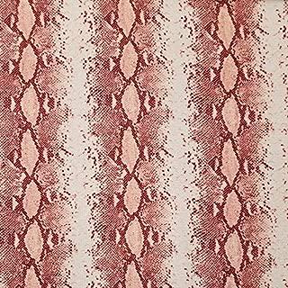 Off White Peach Snake Skin Prints on Crepe Chiffon Fabric