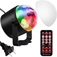 Vorally Disco Ball Party Lights DJ Lights Rotating Magic LED Strobe Lamp Stage Par Light Sound Activated for Room Christmas Dance Parties Birthday DJ Bar Club Pub