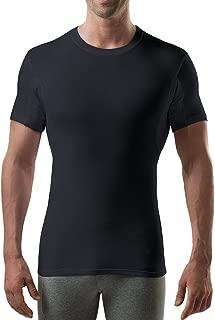 Sweatproof Undershirt for Men with Underarm Sweat Pads (Slim Fit, Crew Neck)