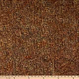 Island Batik 0675105 Clockworks Mosaic Lines Brownie Fabric
