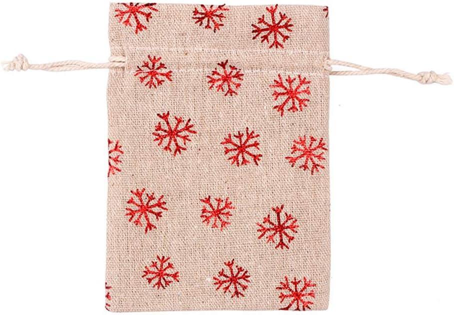 Kinandpri 100pcs Christmas Drawstring Canvas Direct New product!! stock discount Bags Gift 10x14cm