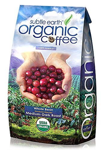 5LB Cafe Don Pablo Subtle Earth Organic Gourmet Coffee - Medium Dark Roast - Whole Bean Coffee - USDA Organic Certified Arabica Coffee by CCOF - (5 lb) Bag