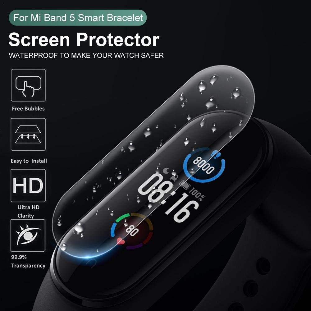 Protector De Pantalla Para Xiaomi Mi Band 4, 5 Película Templada De Protección De Hidrogel De Pantalla Completa, Película Anti-penetración HD A Prueba De Explosión, Película Protectora Flexible De TPU: Amazon.es: Hogar