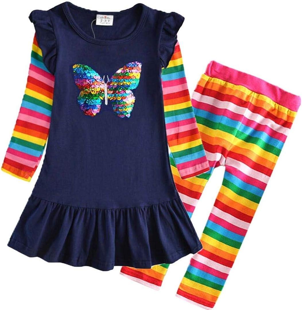 VIKITA Casual Girls Dresses 2pcs LH5880+F5508 8T