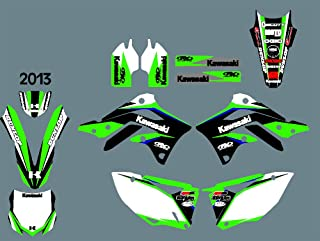 DST0398 Custom Kawasaki motorcycle Decal Kit Motorcross Graphics dirt bike Sticker for Kawasaki KXF450 2013 3M Adhesive Decals