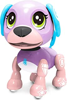 SoundOriginal Electronic Intelligent Pocket Pet Dog Interactive Puppy - Robot Dog Popular Toys Smart Pet Toy for Age 3 4 5 6 7 8 9 10 Year Old Boys Girls and Kids Gifts, Speech Recognition Dog(purple)