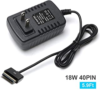 15V 1.2A 18W 40Pin AC Wall Charger Power Adapter, for Asus Eee Pad Slider Transformer SL101, Compatible with TF101 TF201 TF300T A1 B1 Tf101g TF700T Tf300tl Tf300tg Tablet Power Cord