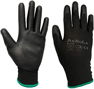 ARNOLA 12 Pairs ESD Anti Static Gloves, Safety Work Gloves For General Duty Work And Electronic Assembly