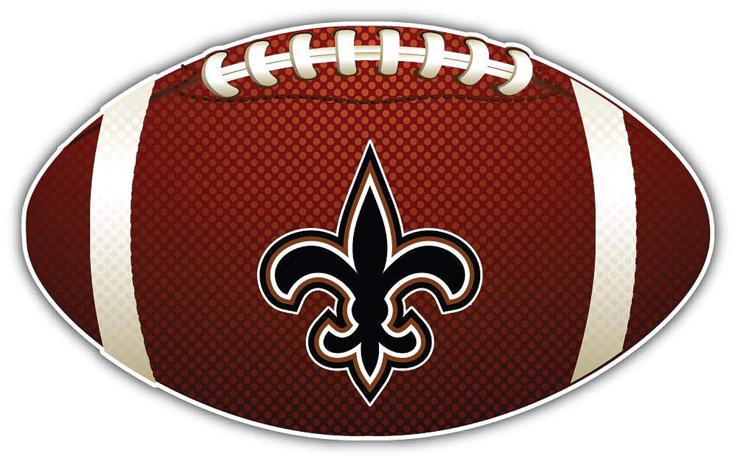 New Orleans Saint Symbol NFL Logo Ball Sticker Car Bumper Decal 5'' X 3''