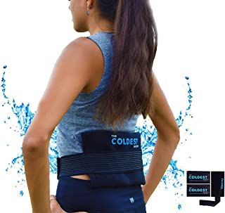 The Coldest Ice Pack 2 Flexible Gel Ice Pack and 1 Wrap with Elastic Strap Only for Cold Therapy, 11-Inch-by-5.9-Inch