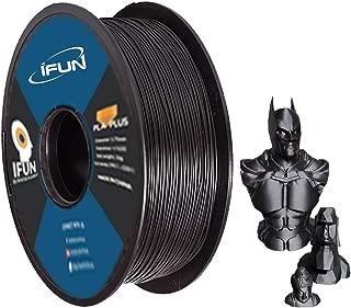 IFUN 3D Carbon Fiber PLA Filament 1.75mm 1KG(2.2LB) Black Rohs Compliance Dimensional Accuracy +/- 0.03 mm