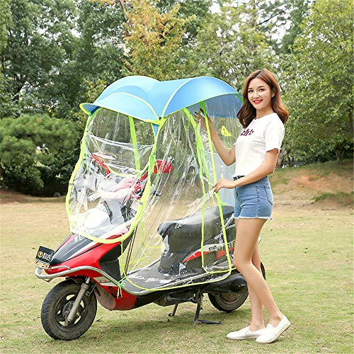 GPFDM Universal Electric Motorcycle Sunshade Cover,Fully Enclosed Motor Scooter Umbrella Mobility Sun Shade & Rain Cover Waterproof,A,Norearviewmirror