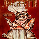 Spaghetti Night Chef Cat - Decorative Ceramic Art Tile - 8'x8' En Vogue