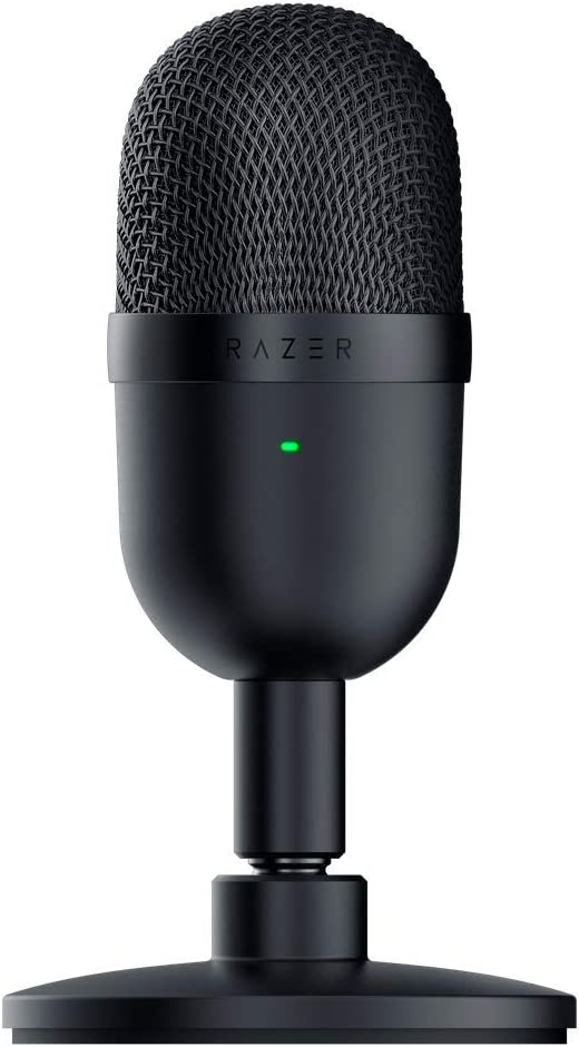 Razer Seiren Mini USB Streaming Microphone: Precise Supercardioid Pickup Pattern - Professional Recording Quality - Ultra-Compact Build - Heavy-Duty Tilting Stand - Shock Resistant - Classic Black: Computers & Accessories