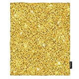 Moslion Glitter Sequin Throw Blanket 30x40 Inch Sparkle Shiny Bright Bling Bling Decoration Fashion Design Cozy Throw Blanket for Couch Bed Sofa Car Soft Throw Blanket Flannel