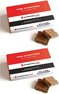 Kamado Joe Chemical Free Odorless Safe Outside Grill Fire Starter Cube (48 Pack)