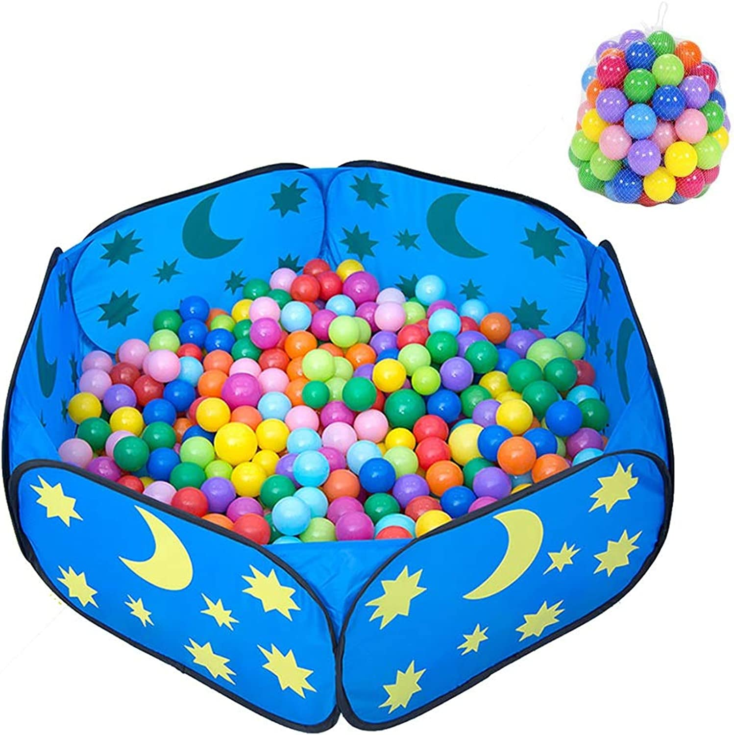 Portable Kids Ball Pit, bluee Baby Play Pit Storage Bag, Ideal for Toddlers Indoor Outdoor Play (color   With 100 balls)