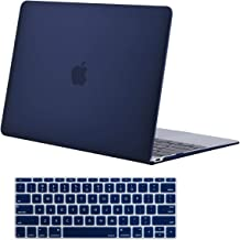 MOSISO Plastic Hard Shell Case & Keyboard Cover Skin Only Compatible with MacBook 12 inch with Retina Display (Model A1534, Release 2017 2016 2015), Navy Blue