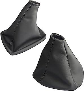 AERZETIX: Funda para palanca de cambios y freno de mano de piel sintética gris