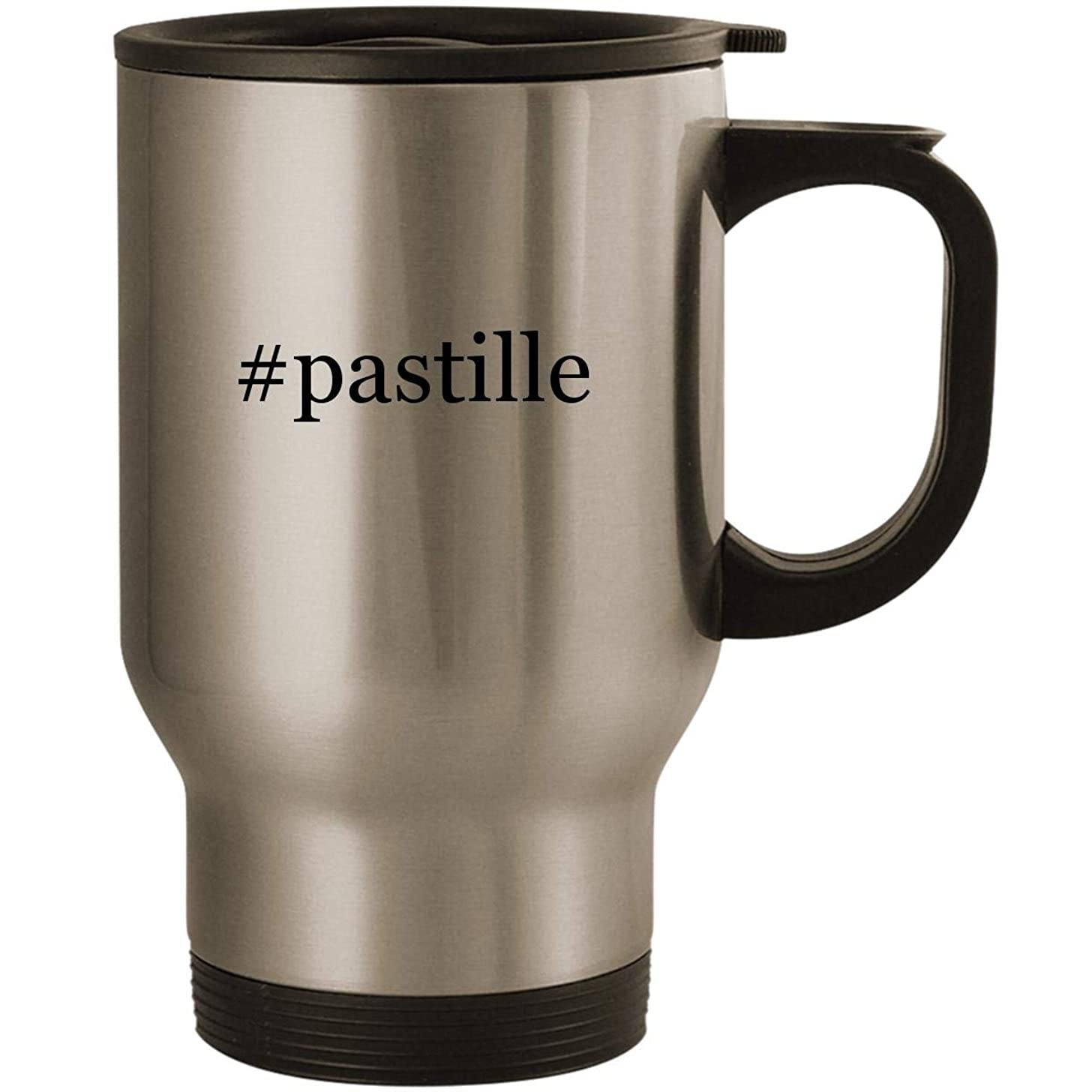 #pastille - Stainless Steel 14oz Road Ready Travel Mug, Silver
