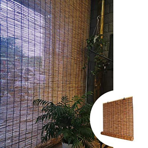 L-KCBTY Cortina Bambu Puerta - Persiana Enrollable Interior, Aislamiento Térmico/Transpirables/Naturales, para Decoración De Exteriores Cortina De Madera contra Insectos