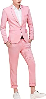 Men's Suit Single-Breasted One Button Center Vent 2 Pieces Slim Fit Formal Suits