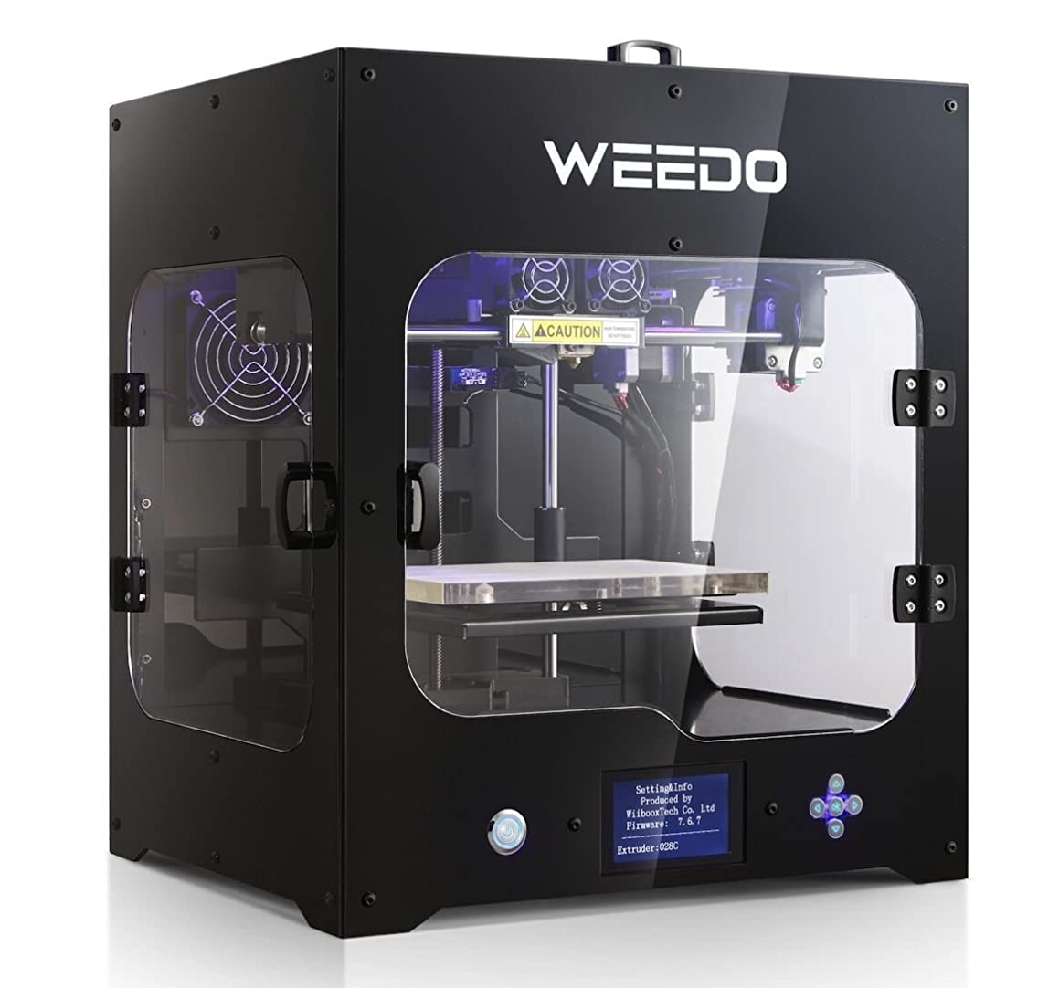 WEEDO M2 desktop 3D printer, Metal Frame Professional High Resolution Stable , Single extruder, LCD Display,Air Particle Filtration Module Popular in Industry and Education