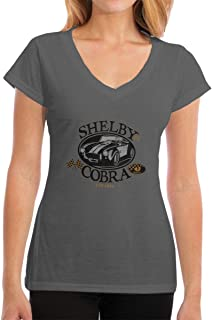 TIANXIN New Personalized Shelby Cobra Classic Car T Shirt for Ladies 100% Organic Cotton V-Neck White