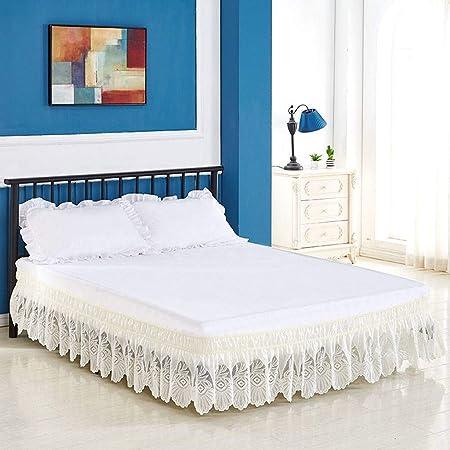 QUNCUNG Bedding Ruffled Bedskirt,Medidas canapé Volantes ...