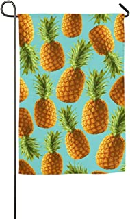 Island Pineapple Tropic Fruit Pattern Pop Art Welcome Double Sided Garden Home Flag Seasonal Outdoor Funny House Flags for Garden Yard Lawn Outdoor