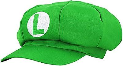thematys® Super Mario Gorra Luigi - Disfraz de Adulto y Niños Carnaval y Cosplay - Classic Cappy Cap