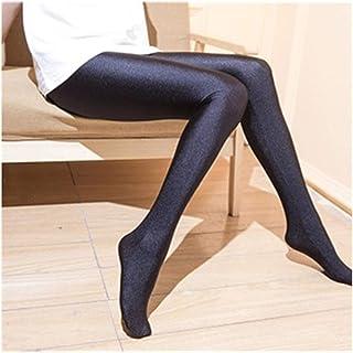 acb90f985 Women Sexy Black Shiny Elastic Tights Plus Size Nylon Stretchy Warm  Pantyhose