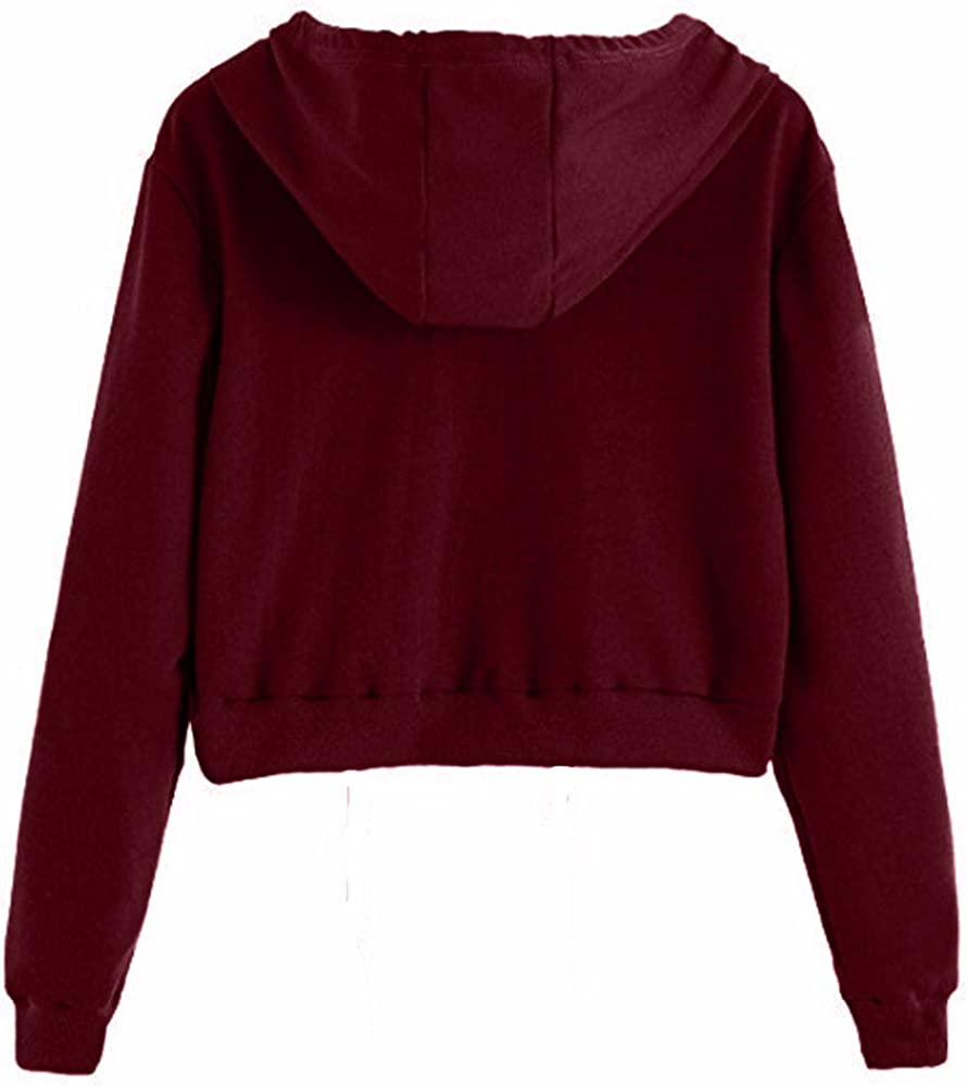 Blouses for Women,O-Neck Pocket Hoodie Jumper Long Sleeve Sweatshirt Pullover Tops