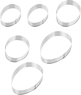TOYANDONA 6pcs Easter Egg Cookie Cutter Egg Shaped Cookie Cutters Stainless Steel Biscuit Molds Pastry Cutters ( Silver )