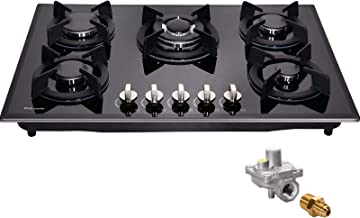 30″ Gas Cooktop Dual Fuel 5 Sealed Burners Gas Stovetop Tempered Glass Drop-In Gas Stove DM517-SA01 Gas Hob – Deli-mate