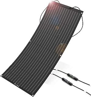 ALLPOWERS 100W Solar Panel 18V 12V Bendable Flexible ETFE Solar Charger Kit Water-Ultra Lightweight Resistant Monocrystalline Solar Module for RV, Boat, Cabin, Tent, Car, 12V Battery-Updated