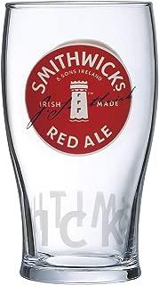 Smithwick's Irish Red Ale Signature Pub Glass Imperial 20oz Pint Glass