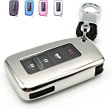 Royalfox 2//3//4 Buttons Soft TPU Smart keyless Remote Key Fob case Cover Shell for Lexus RX is CT GS NX ES RC RCF GSF es300 es330 es350 RC200 RC300 RC350 is300 is250 is350 TM Blue