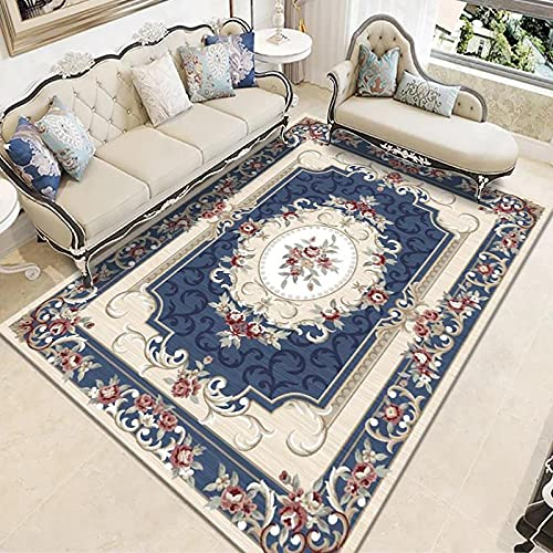 Retro Large Carpet Home Simple Living Room Sofa Cushion Bedroom Blanket Rectangular Floor Mat Non-Slip Thick Washable Material