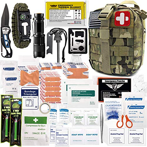 EVERLIT 250 Pieces Survival First Aid Kit IFAK Molle System Compatible Outdoor Gear Emergency Kits...