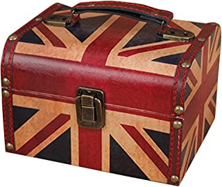 A.B Crew Wooden Jewelry Keepsake Gift Storage Box with Union Jack Or Butterfly Design(Union Jack)