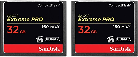 2-Pack of Sandisk Extreme PRO CompactFlash 32GB Memory Card (Total 64 GB), UDMA 7, Up to 160 MB/s Read Speed
