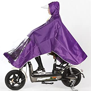 YQRYP Raincoat Electric Car Motorcycle Raincoat Single Increase Thickening Bicycle Rain Poncho Big Hat Rainwear Poncho,Split Raincoat (Color : Purple)