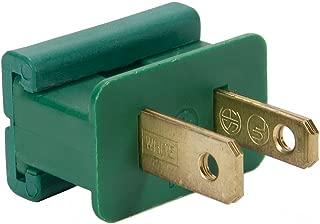 Holiday Lighting Male or Female, Green or White Slip Plug, Zip Plug, Vampire Plug, Gilbert Plug, Slide-On Plug, for use with 18 Gauge SPT-1 wire (25, Male Green)