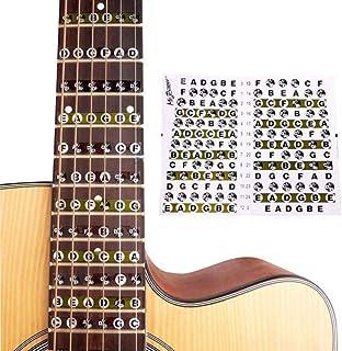 Perlo33ER Diapasón Mapa de trastes Guitarra eléctrica acústica Nota Escalas Pegatinas para principiantes
